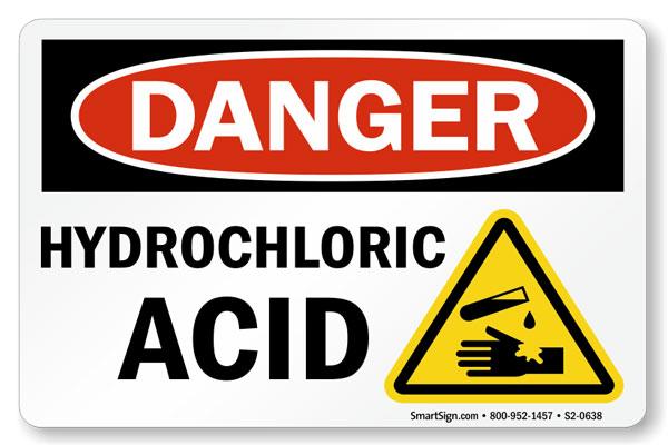 ایمنی اسید کلریدریک