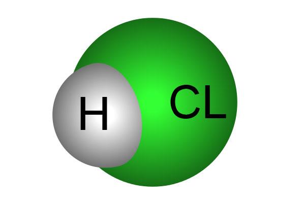 فرمول شیمیایی کلریدریک اسید